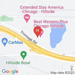 Karte BEST WESTERN CHICAGO HILLSIDE
