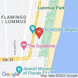 Karte AVALON HOTEL MIAMI BEACH