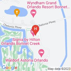 Karte HILTON ORLANDO BONNET CREEK