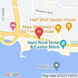 Karte BEAU RIVAGE RESORT & CASINO