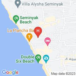 Karte PELANGI BALI HOTEL & SPA