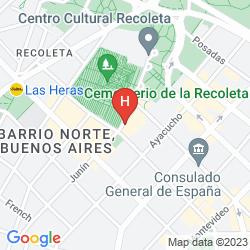 Karte URBAN SUITES RECOLETA
