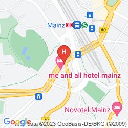 Karte INTERCITYHOTEL MAINZ