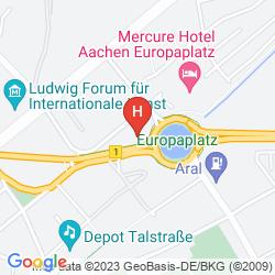 Karte MERCURE HOTEL AACHEN EUROPAPLATZ