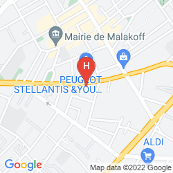 Karte SEJOURS & AFFAIRES PARIS MALAKOFF