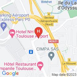 Karte RADISSON BLU HOTEL TOULOUSE AIRPORT