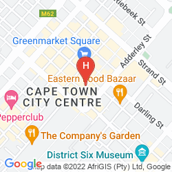 Karte HOLIDAY INN EXPRESS CAPE TOWN CITY CENTRE