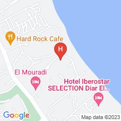 Karte EL MOURADI PALM MARINA
