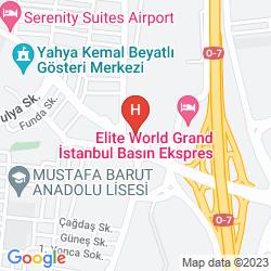 Karte COURTYARD ISTANBUL INTERNATIONAL AIRPORT