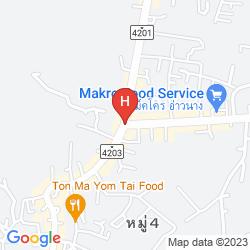 Karte KRABI CHA-DA RESORT