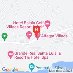 Karte APARTHOTEL ALTO DA COLINA