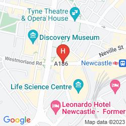 Karte HOLIDAY INN EXPRESS NEWCASTLE CITY CENTRE