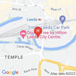 Karte DOUBLETREE BY HILTON LEEDS CITY CENTRE