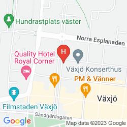 Karte ELITE PARK HOTEL, VAXJO