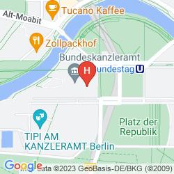 Karte MEININGER HOTEL BERLIN CENTRAL STATION
