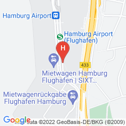 Karte RADISSON BLU HOTEL, HAMBURG AIRPORT