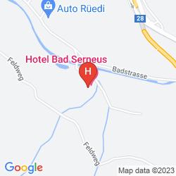 Karte KURHOTEL BAD SERNEUS HAUPTHAUS UND NEBENHAUS