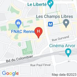 Karte MERCURE RENNES CENTRE GARE