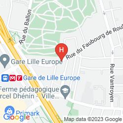 Karte SUITE NOVOTEL LILLE EUROPE
