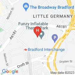 Karte HOLIDAY INN EXPRESS BRADFORD CITY CENTRE