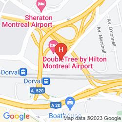 Karte SHERATON MONTREAL AIRPORT