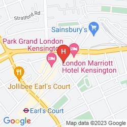 Karte KENSINGTON HOTEL APARTMENTS
