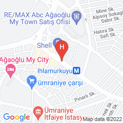 Karte AGAOGLU MY CITY HOTEL