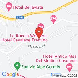Karte HOTEL LA ROCCIA