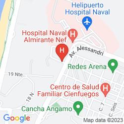 Karte HOSTAL RELOJ DE FLORES