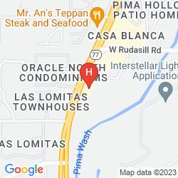 Karte LA POSADA LODGE & CASITAS