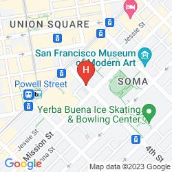 Karte SAN FRANCISCO MARRIOTT MARQUIS