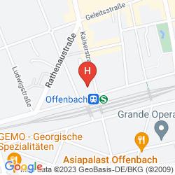 Karte CENTRAL-HOTEL OFFENBACH
