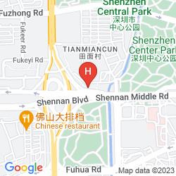 Karte THE VENICE RAYTOUR HOTEL SHENZHEN