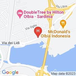 Karte DOUBLETREE BY HILTON OLBIA