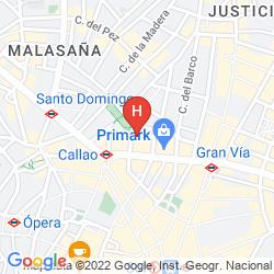 Karte APARTAMENTOS H2 GRAN VIA