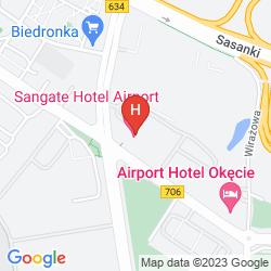 Karte  SANGATE HOTEL AIRPORT