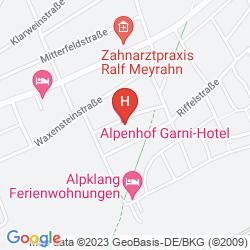 Karte ALPENHOF GARNIHOTEL