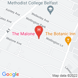 Karte MALONE LODGE HOTEL