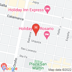 Karte PLAZA REAL HOTEL