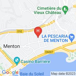 Karte IBIS STYLES MENTON CENTRE