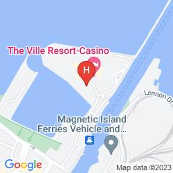 Karte THE VILLE RESORT - CASINO