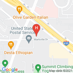 Karte HOMEWOOD SUITES BY HILTON DALLAS - PARK CENTRAL AREA