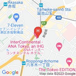 Karte INTERCONTINENTAL ANA TOKYO