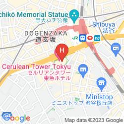 Karte CERULEAN TOWER TOKYU