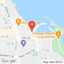 Karte VALERI BEACH HOTEL
