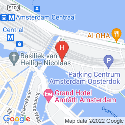 Karte DOUBLETREE BY HILTON HOTEL AMSTERDAM CENTRAAL STATION