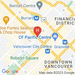 Karte THE FAIRMONT HOTEL VANCOUVER