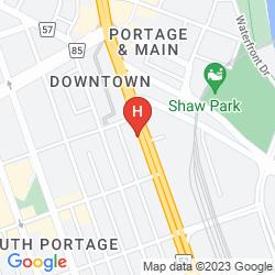 Karte HUMPHRY INN & SUITES WINNIPEG