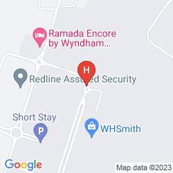 Karte RAMADA ENCORE DONCASTER AIRPORT