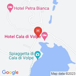 Karte CALA DI VOLPE, A LUXURY COLLECTION HOTEL, COSTA SMERALDA